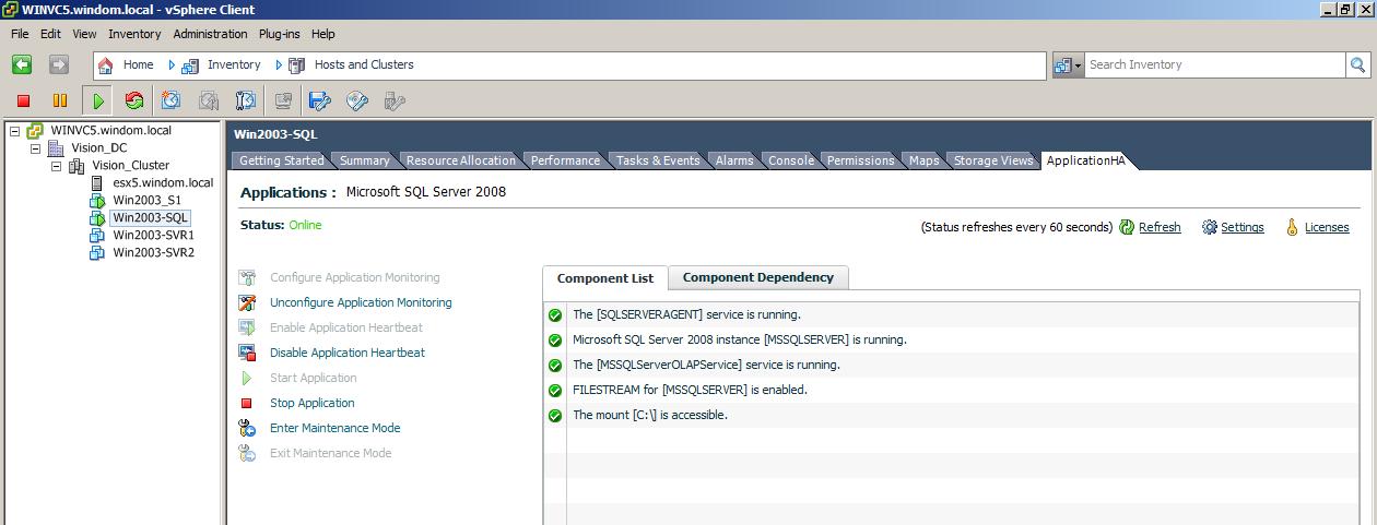 Comparing VMware vSphere App HA with Symantec ApplicationHA